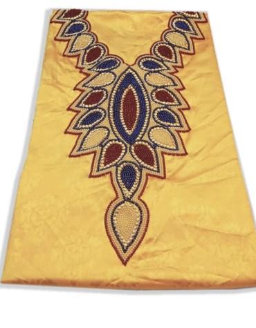 African Attire New Evening Formal Evening Satin Silk Dress Material For Women
