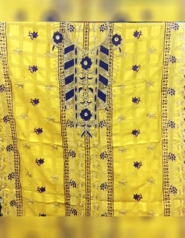Latest African Swiss Voile Design Pice Dubai Embroidery Dress Material For Women