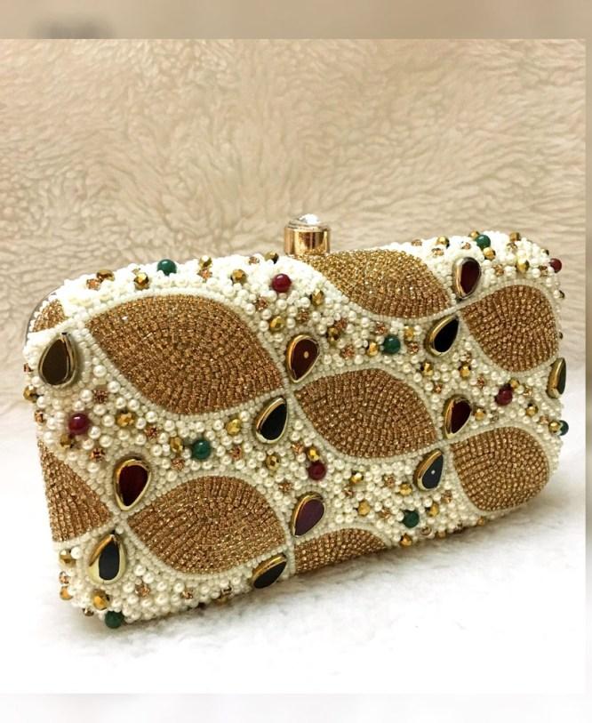 African Latest Fashionable Stone Work Wedding 2021 New Handbag for Women