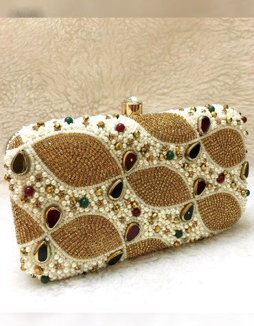 African Latest Fashionable Stone Work Wedding 2021 New Handbag for Women