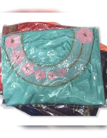 African Attire Wedding Formal Evening Satin Silk Dress Material For Women