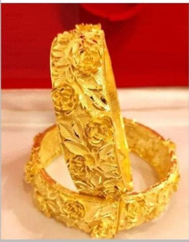 Wedding Bangles Gold Color Trendy Bangles & Bracelets for Women Ethiopian/African Party Gifts