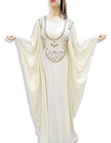 African Attire Plus size Maxi Dress Dubai Moroccan Beaded Lycra Kaftan For Women