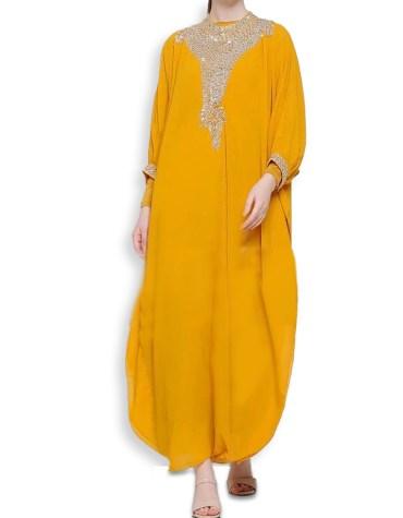 Fabulous African Attire Gold Beaded Kaftan For Women Clothing Formal Evening Dress