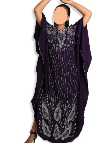 New Trendy Embroidery African Evening Gown Long Abaya Caftan Dresses for Women