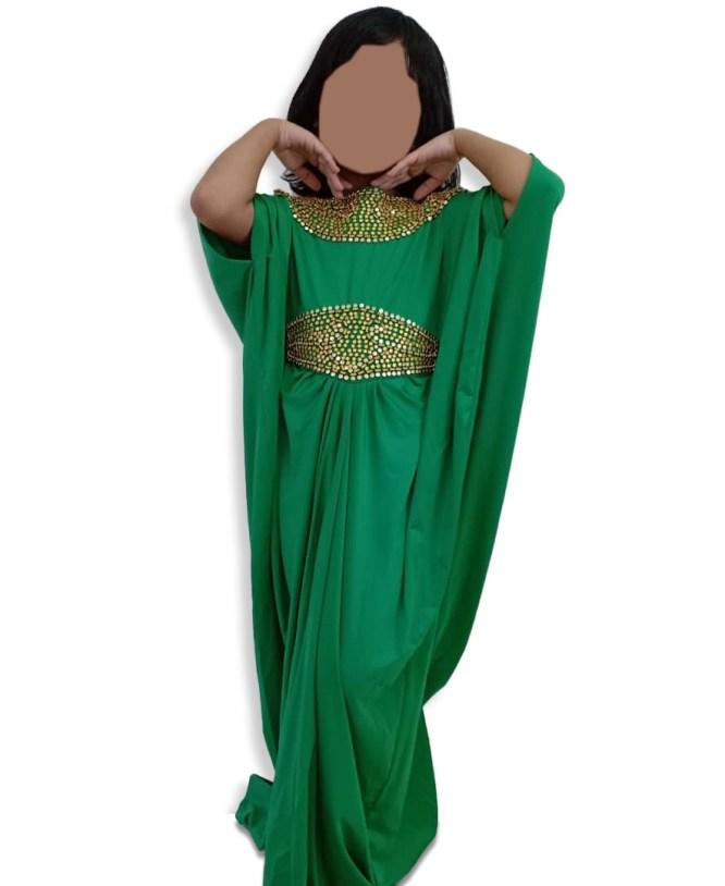 New Embellished Plus Size Moroccan Stunning Premium Women Abaya Spandex Kaftan