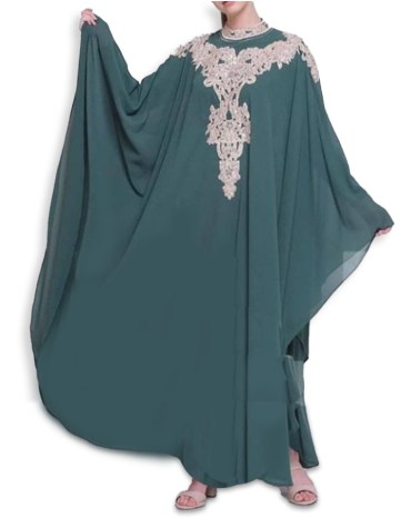 Elegant African Attire Gold Beaded Kaftan For Women Clothing Formal Evening Dress