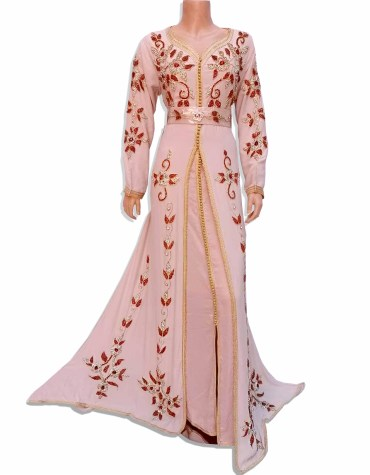 New Wedding Collection African Premium Embroidered Chiffon Kaftan Wear For Women