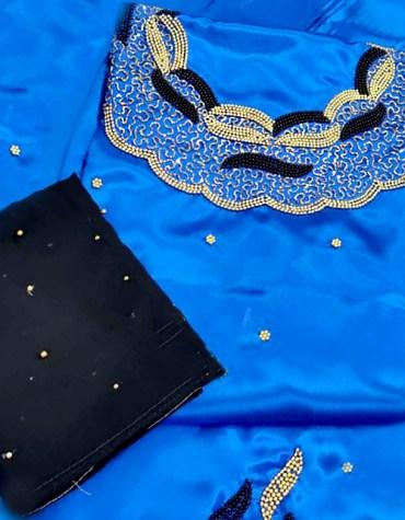 Elegant Designer And Wedding Attire Satin Fancy Dresses Material Wear For Women