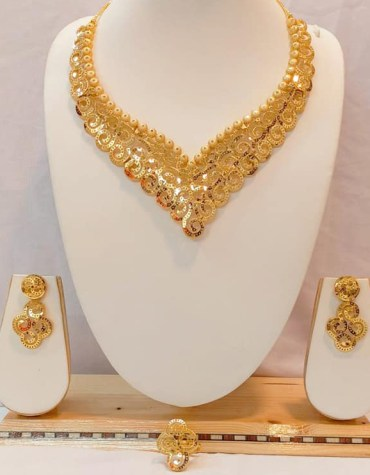 New Trendy Wedding Party Wear Designer Necklace Jewellery Set
