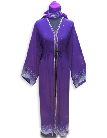 New Premium Arrived Trendy Rhinestone Beaded Jacket Kaftan Dresses For Women