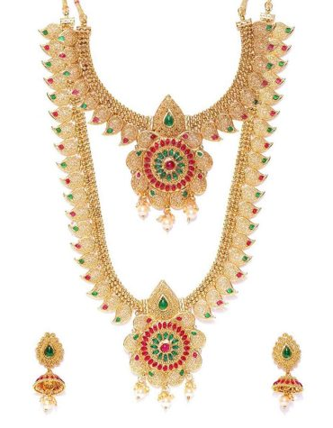 New 2021 Traditional Jewellery Necklace Set for Women with Earrings