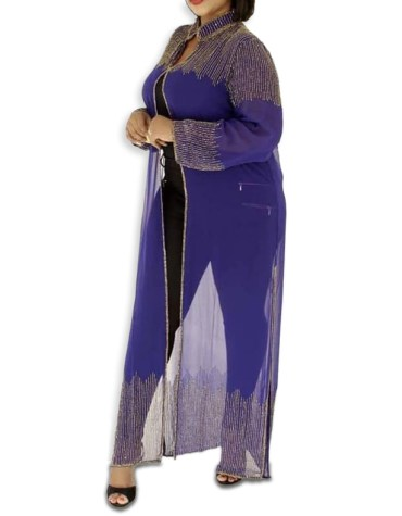 Trendy African Attire Bridesmaid Abaya Beaded Formal Dubai Kaftan for Women