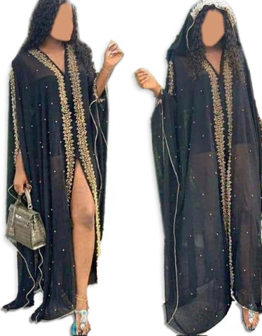 Latest African Gold Beads Formal Kaftan with Jacket Guest Party Wear for Women