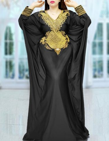 Dubai Fancy Black Abaya Plus Size Moroccan Kaftan African Dresses for Women