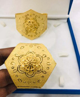 African Trendy Buy Best Design Gold Plated Party Wear Bracelet Set For Women