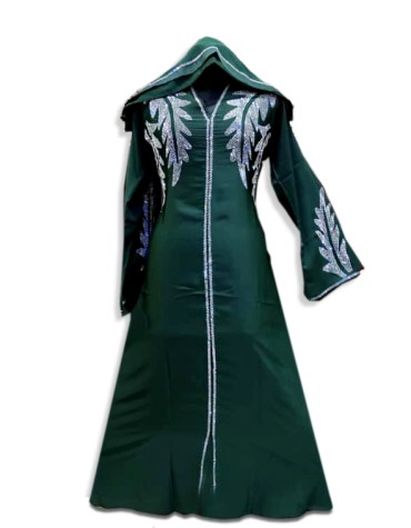 Premium Quality African with Fancy Rhinestone Beaded Trendy Party Wear Abaya