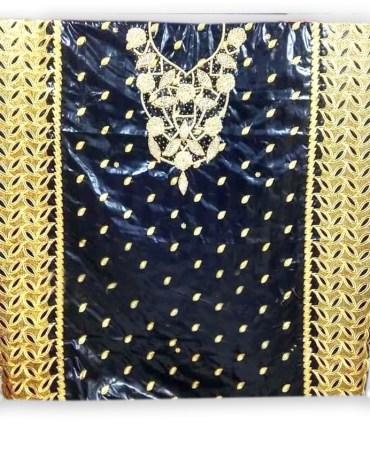 African 100% Super Magnum Gold Getzner Bazin Evening Dress Material For Women