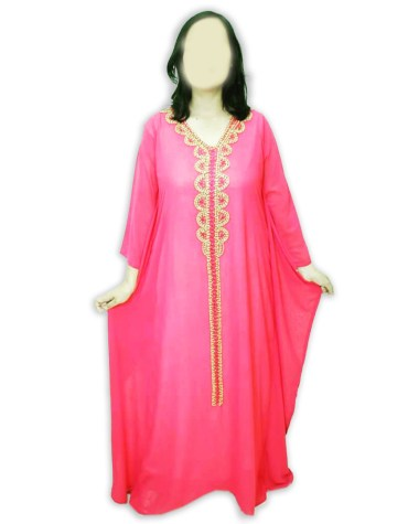 African Attire Moroccan Embroidery Crystal Embellished Dubai Kaftan For Women