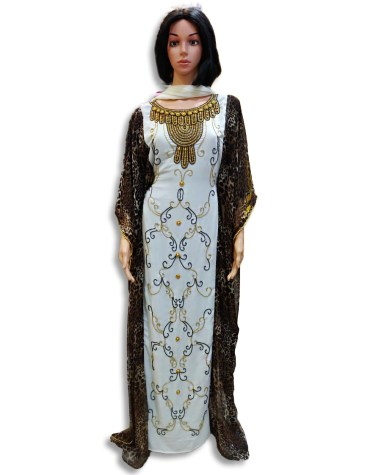 African Gold Formal Kaftan with Jacket Wedding Guest Party wear for Women
