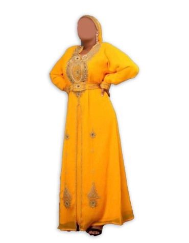 African Attire Chiffon Kaftan Gowns and Evening Party Designer Dress for Women