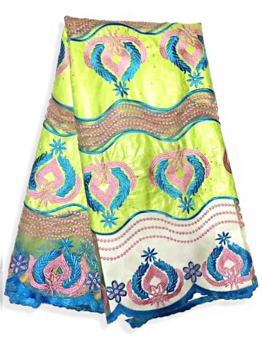 African Fully 100% Super Magnum Gold Rich Bazin Women Dress Material For Women