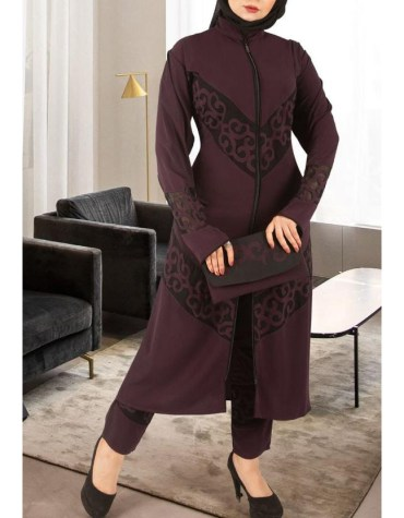 Black Lace Beaded Premium Quality Party Wear Abaya for Women