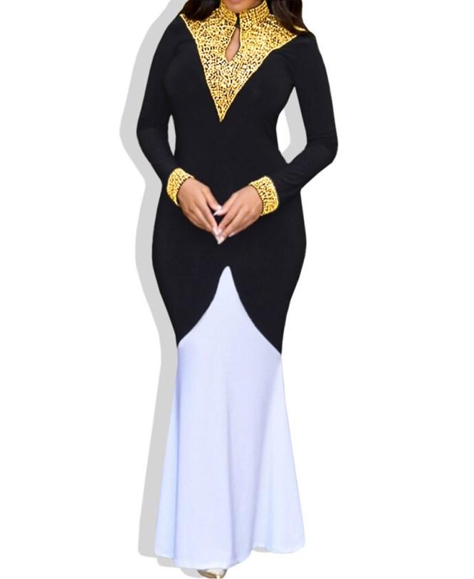 Elegant Dual Shade African Attire Moroccan Exclusive Lycra Kaftan