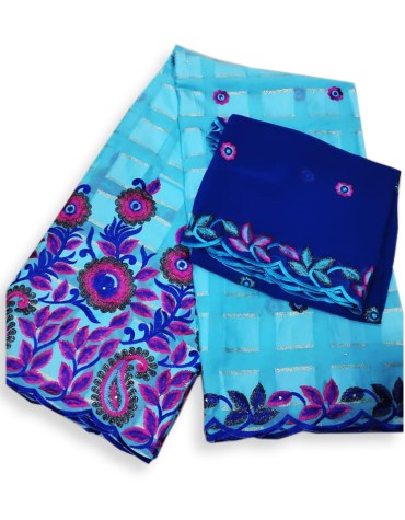 Trendy Designer Classic Elegant Swiss Voile Floral Cotton Piece With Embroidery Dress Material