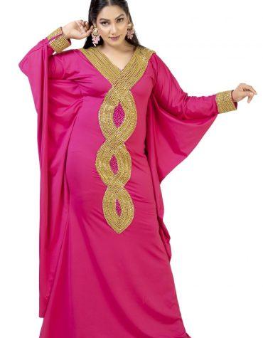 Trendy African Moroccon Premium Hand Beaded Work Party Wear Kaftan For Women