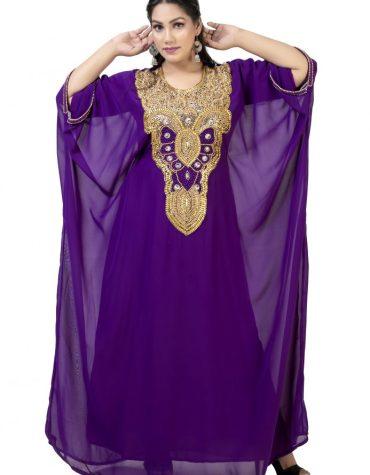 Super Premium Designer Dubai Kaftan Classic Gown Work Golden Beaded African Dress