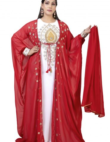 Floral Elegant Brilliant Jacket Party Wear for Women For Wedding Dubai Long Kaftan