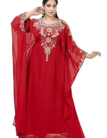 Premium Designer Dubai Kaftan Jalabiya Maxi Gown Work Golden Beaded African Dress