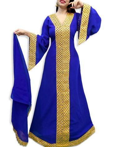 Latest Designer Elegant Wedding Collection Arabian Kaftan Dress Fancy Gown for Women