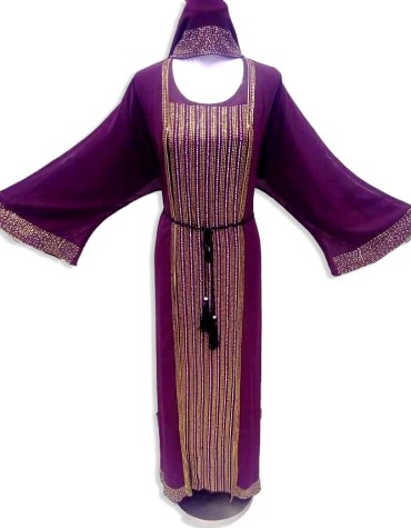 Designer Heavy Beaded Work And Premium Quality African Party Wear Abaya For Women