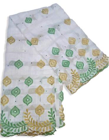 New Brilliant Swiss Voile Designer Cotton Piece Dubai Elegant Embroidery Dress Material