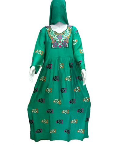Party Collection Elegant Designer Embroidered Rayon Long Trendy Dress For Women