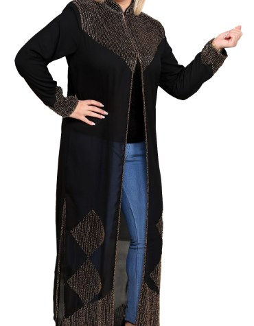 African Party Wear Light Weight Trendy and Fashionable Designer Long Shrug Abaya
