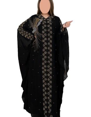 Rhinestone Beaded Premium Quality Trendy Farasha Abaya Party Wear for Women