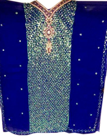 Heavy Crystal Shiny Stone Beaded Dubai Kaftan for Evening Party Wear for Women