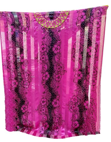 African Swiss Voile Satin Golden Moroccan Decoration Wedding Fuchsia Dress Material