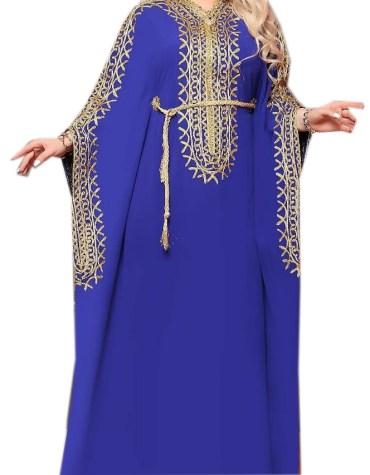 African Attire Wedding Moroccan Design Dress Dubai Kaftan Abaya for Women