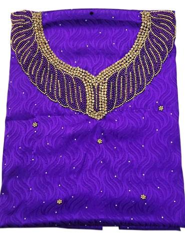 African Attire Latest Party Wear Satin Silk Dress Material Wedding For Women