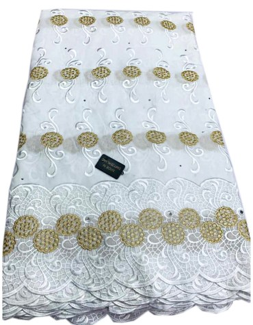African latest Swiss Voile Design Cotton Dubai Elegant Embroidery Dress Material