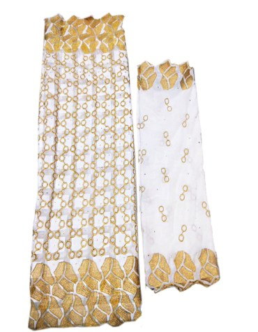African New Swiss Voile Cotton 2 Piece Party Wedding Dress Material For Women