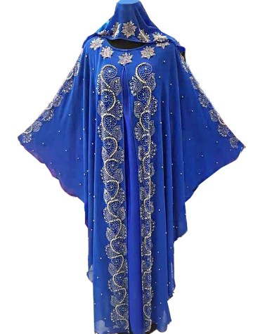 African Attire Long Sleeve Designer Party Wear Evening Abaya Dresses for Women
