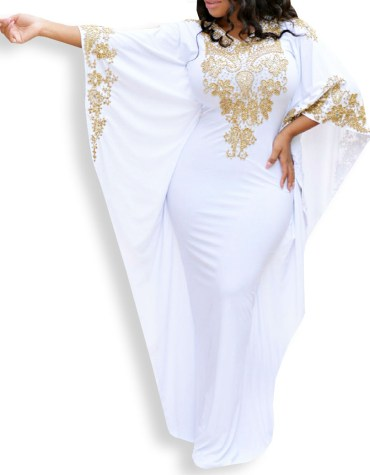 Wedding Plus Size Dresses For Women Moroccan Party Wear Abaya Lycra Kaftan