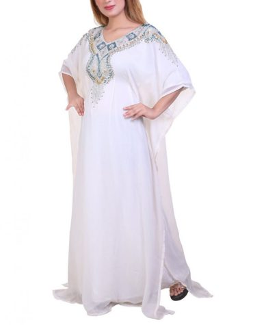 Latest Collection Kaftan Super Premium Elegant Beaded Work Party Wear For Women