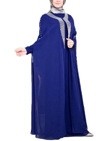 New Silver Stone Beaded Jacket With Inner Dress Dubai Kaftan Wedding Dress For Women