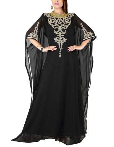 New Super Designer Dubai Kaftan Elegant Jalabiya Maxi Gown Beaded Work Party Dress